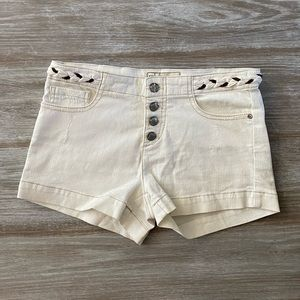 Free people white / cream colored shorts